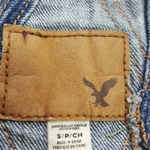 American Eagle Outfitters Jeans - American Eagle Jean Raw Hem Short Overalls Small